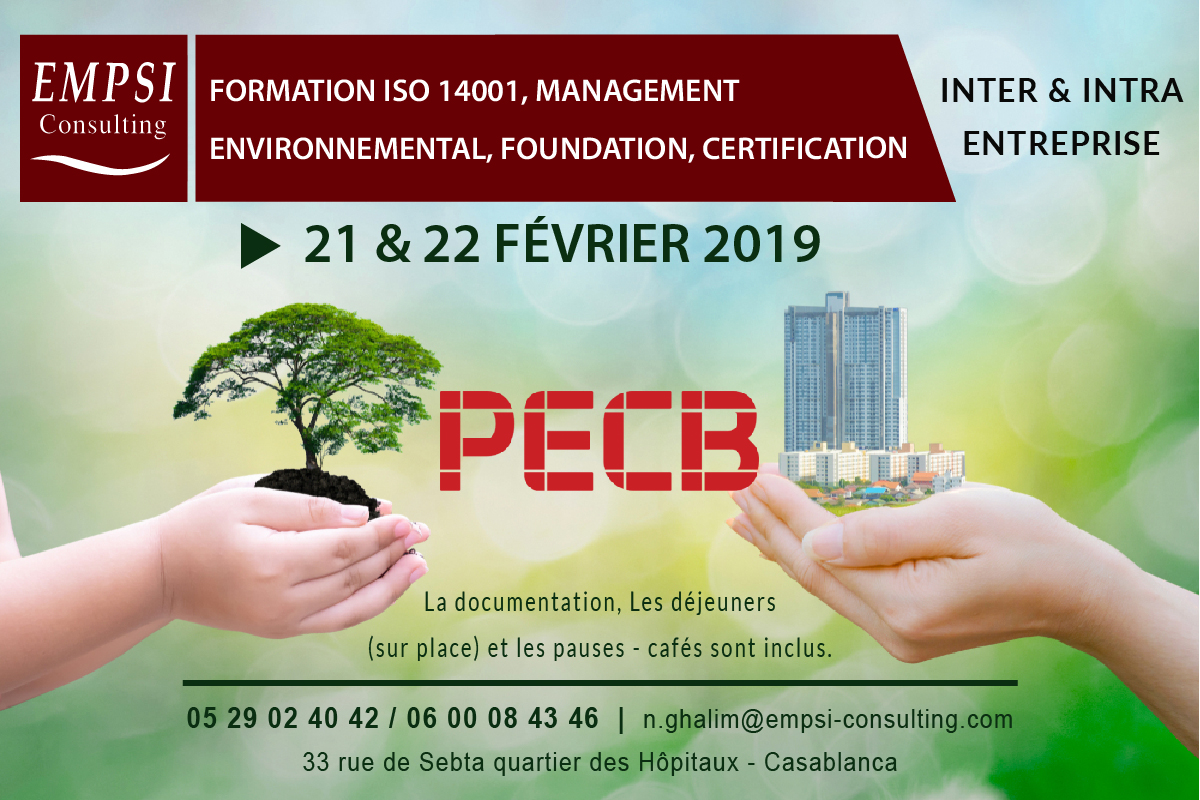 Formation ISO 14001, management environnemental, Foundation, certification
