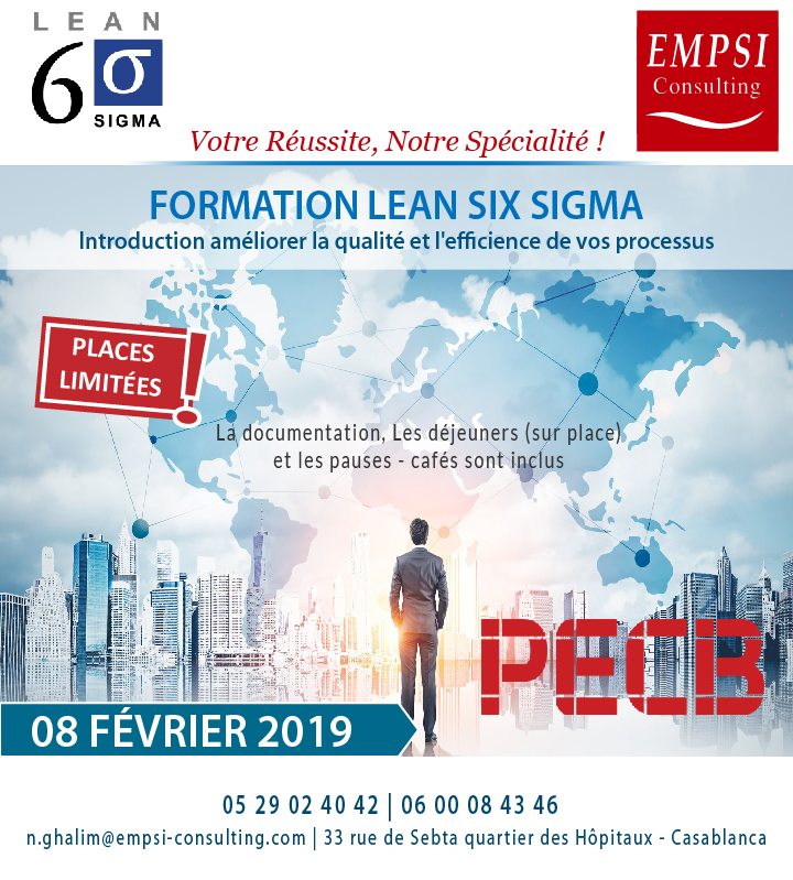Formation Lean Six Sigma®, introduction améliorer la qualité et l'efficience de vos processus